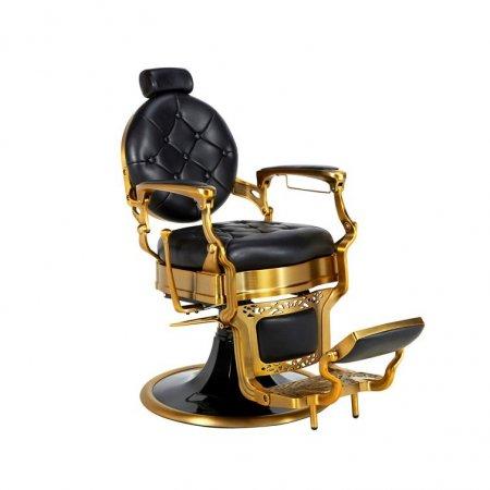 Πολυθρόνα κουρείου Antique Black & Gold