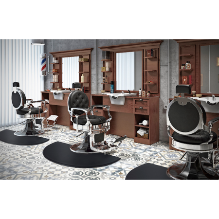 Πολυθρόνα κουρείου Antique Black